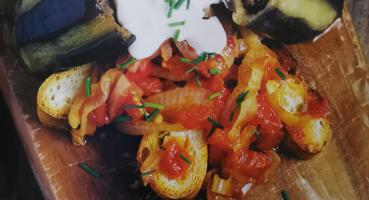 Yoğurtlu Patlıcan Dolması tarifi
