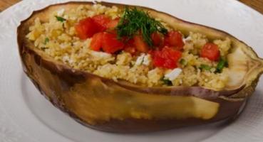 Bulgur Salatalı Patlıcan